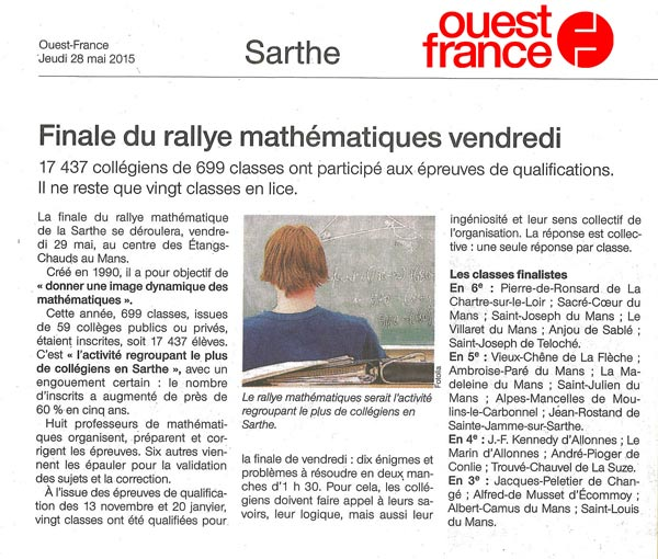 Ralliye des Maths